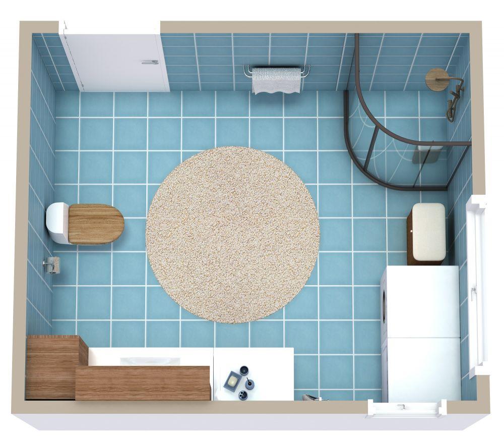 RoomSketcher Bathroom 3D Floor Plans