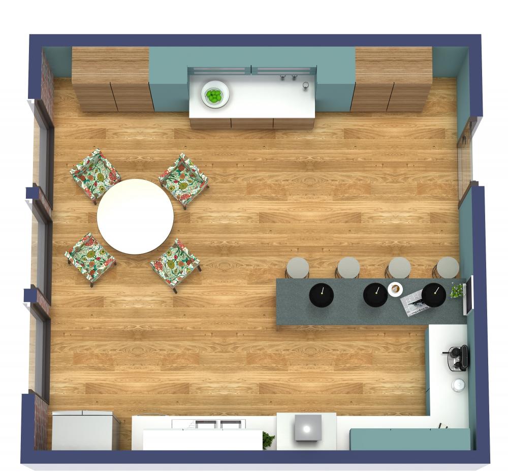 RoomSketcher Kitchen 3D Floor Plans
