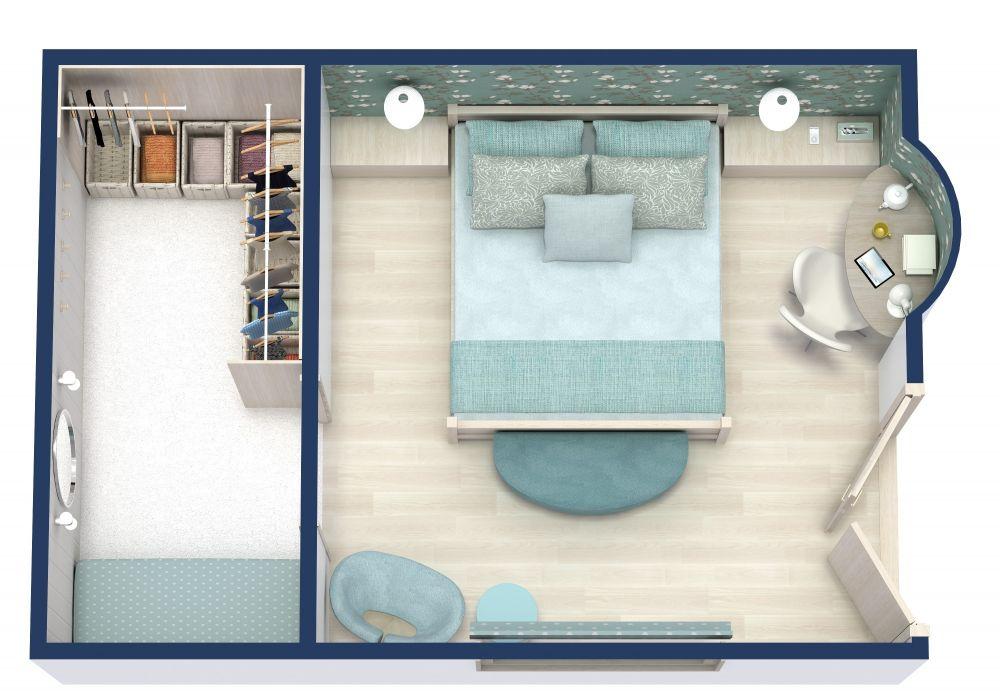 RoomSketcher Bedroom 3D Floor Plans