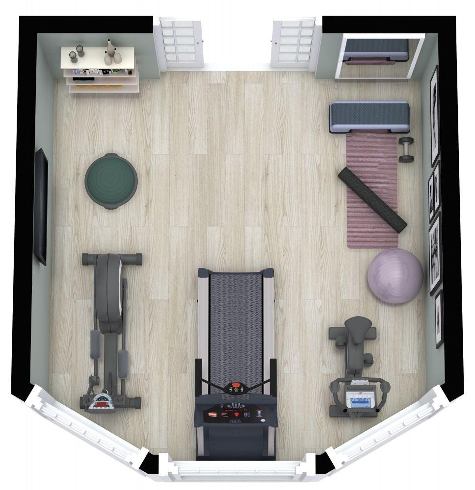 RoomSketcher Gym 3D Floor Plans