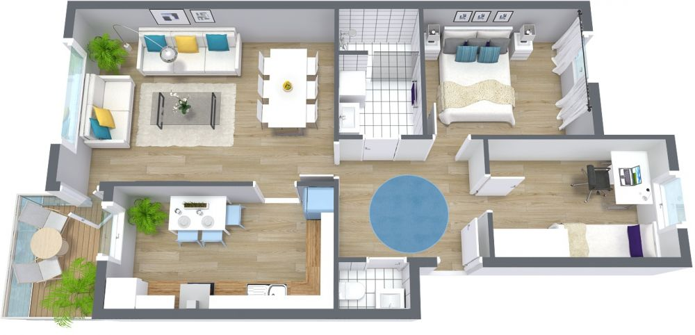 Small 3D House Plan Examples
