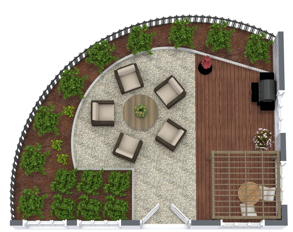 3D Garden Design Examples