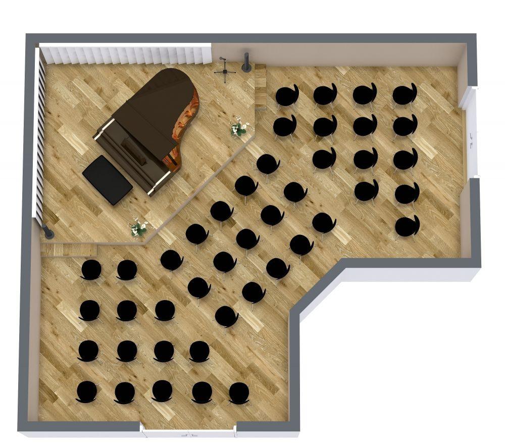 Concert Hall 3D Floor Plan Examples