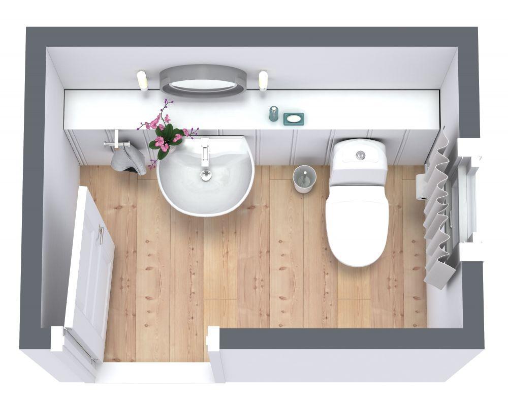 Powder Room Design 3D Floor Plan